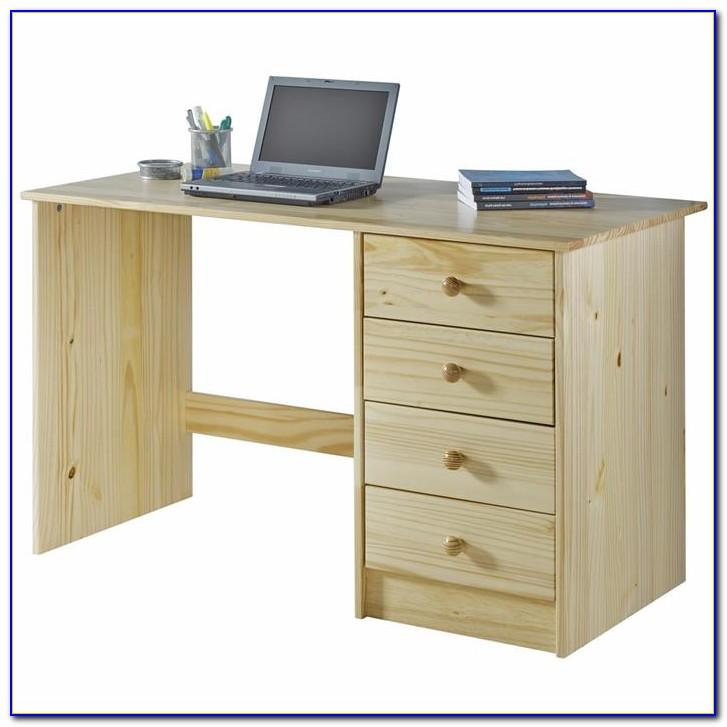 Schreibtisch Manager Kiefer Massiv Natur Lackiert
