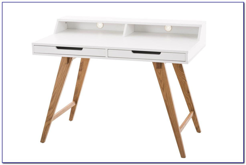 Schreibtisch Massiv Holz Weiß