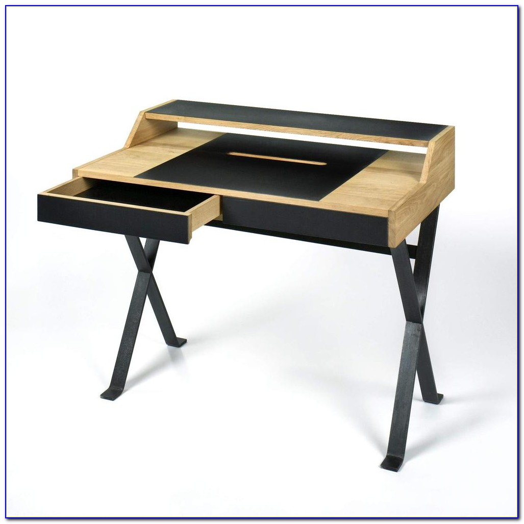 Schreibtisch Massivem Eichenholz