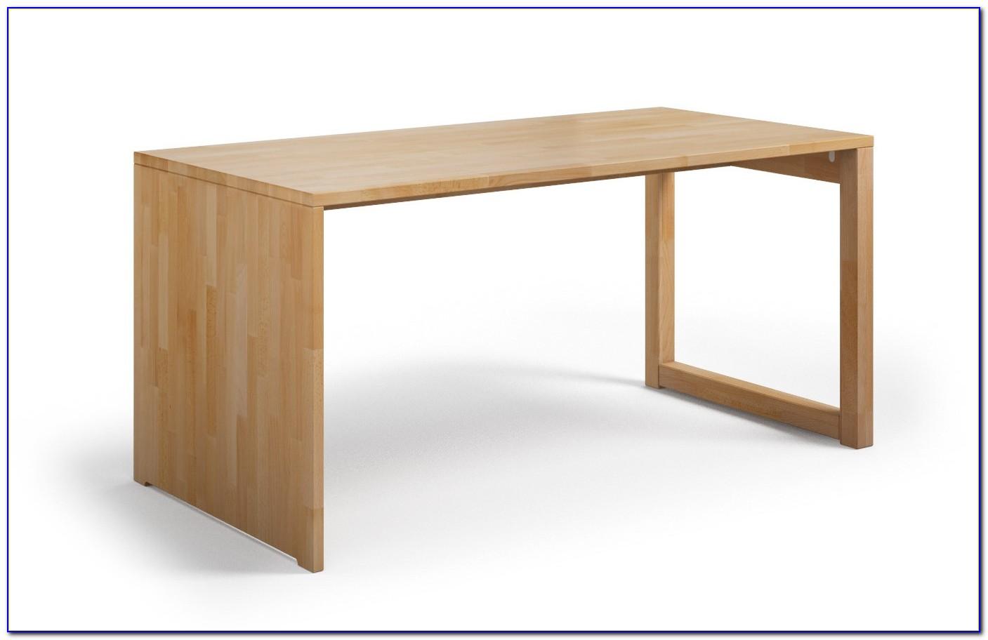 Schreibtisch Massivholz Weiß