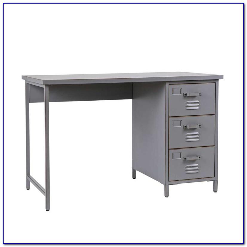 Schreibtisch Metall Holz