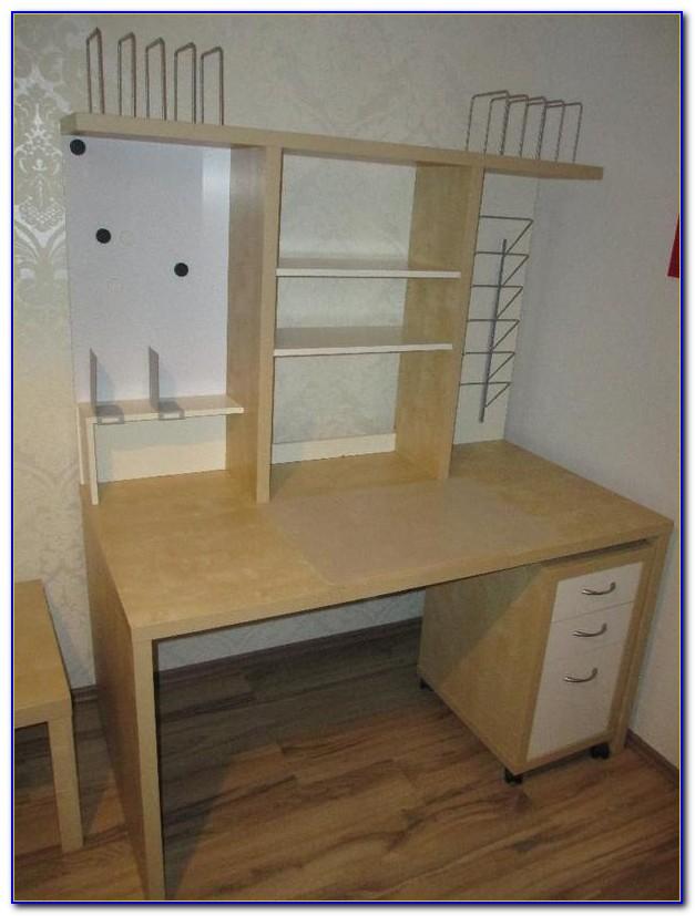 Schreibtisch Mit Aufbau