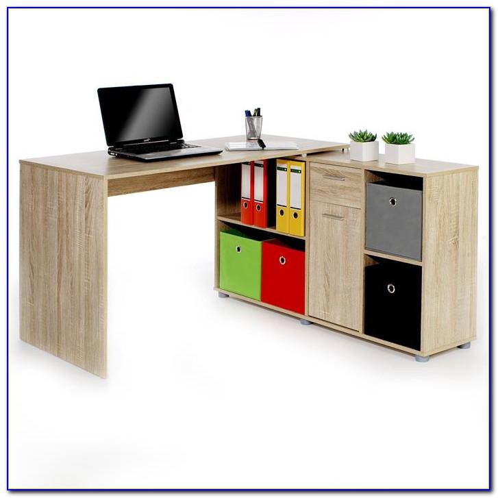Schreibtisch Mit Regalteil