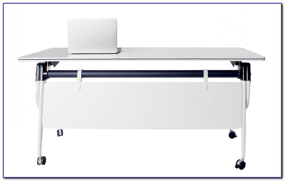 Schreibtisch Mit Rollen Weiß