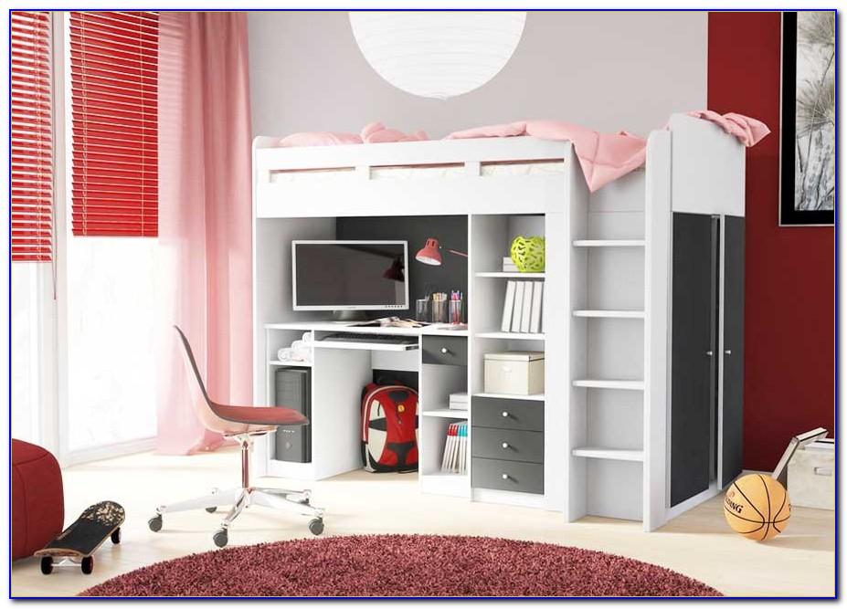Schreibtisch Mit Schrankwand