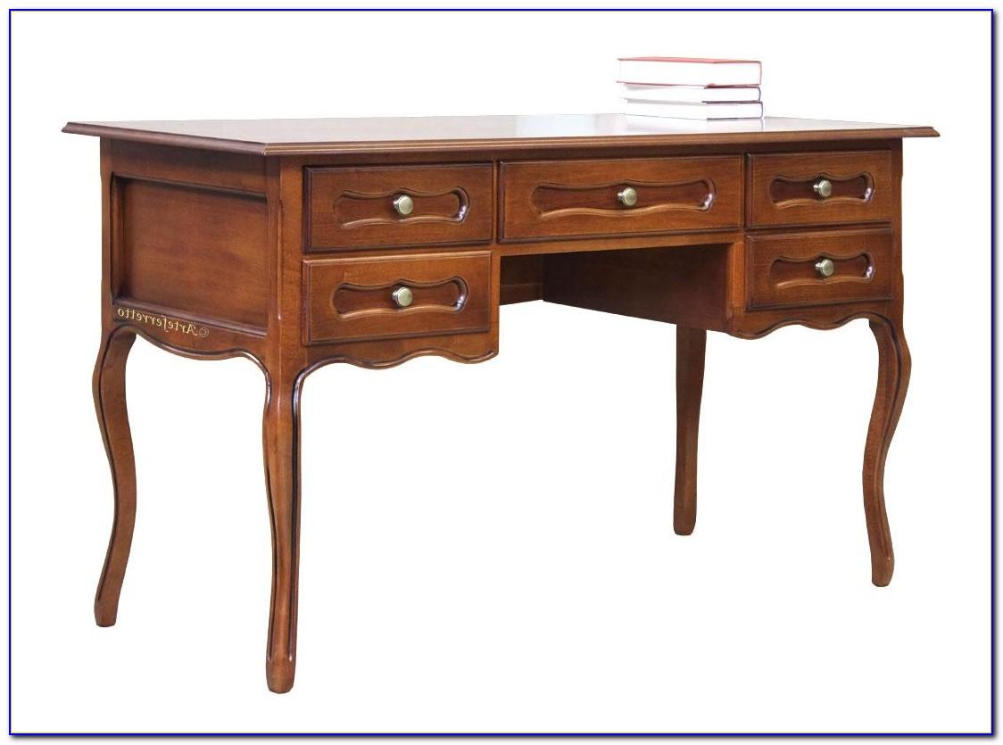 Schreibtisch Mit Schubladen Holz