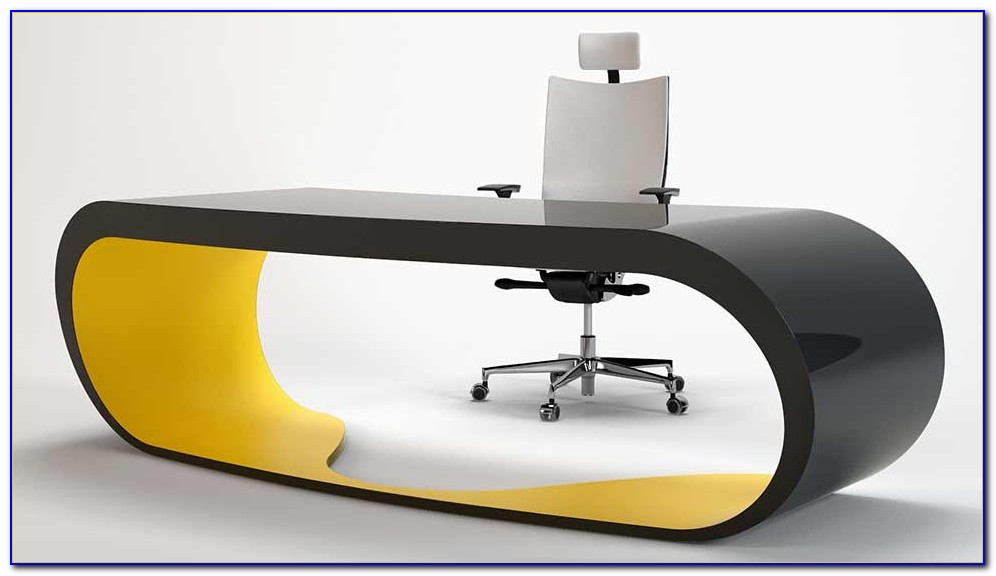 Schreibtisch Modern Nussbaum