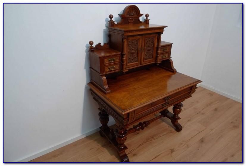 Schreibtisch Nussbaum Roller