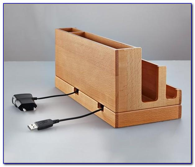Schreibtisch Organizer Holz
