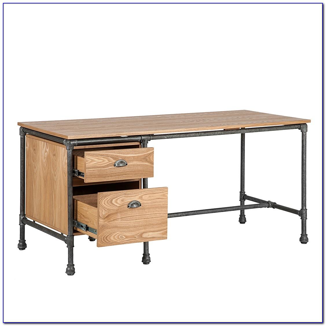 Schreibtisch Rollcontainer Holz