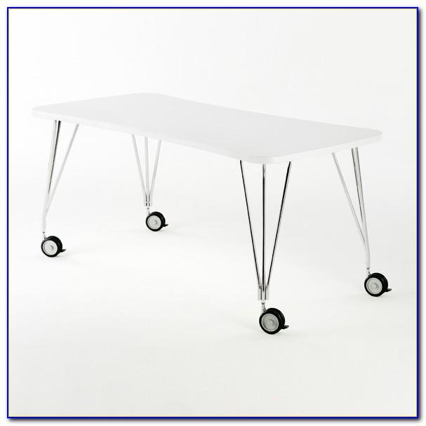 Schreibtisch Rollen Parkett