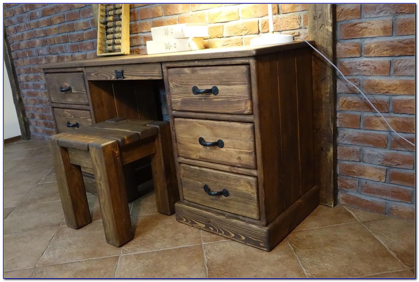 Schreibtisch Rustikal Eiche