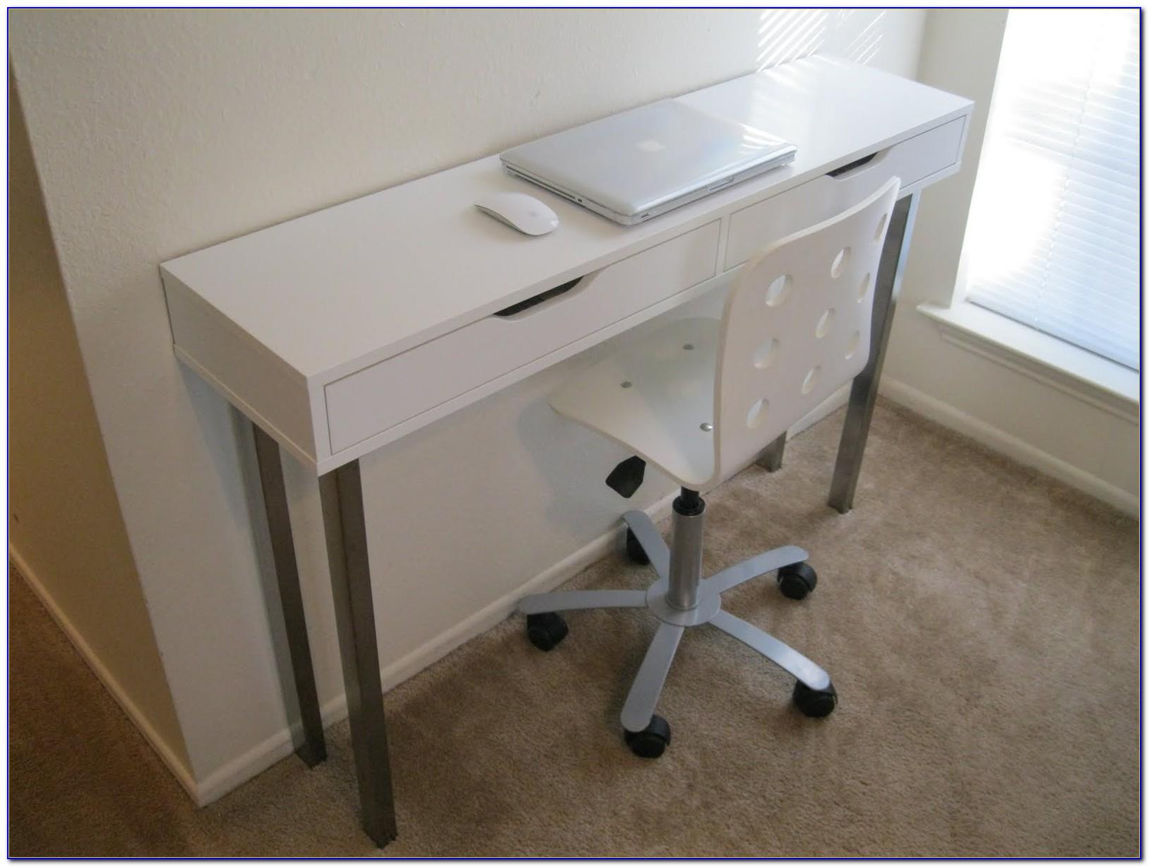 Schreibtisch Schmal Weiß
