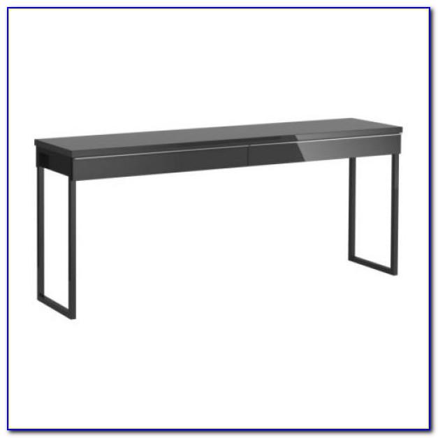 Schreibtisch Schwarz Hochglanz