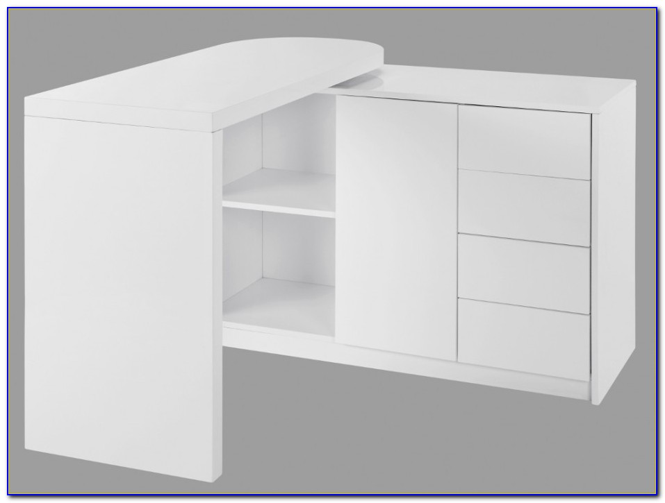 Schreibtisch Schwenkbar Schwarz