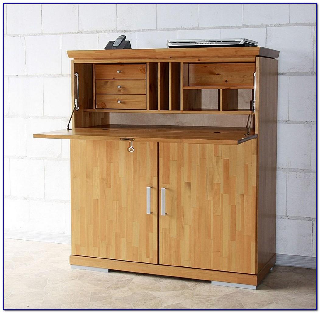 Schreibtisch Sekretär Nussbaum Holz