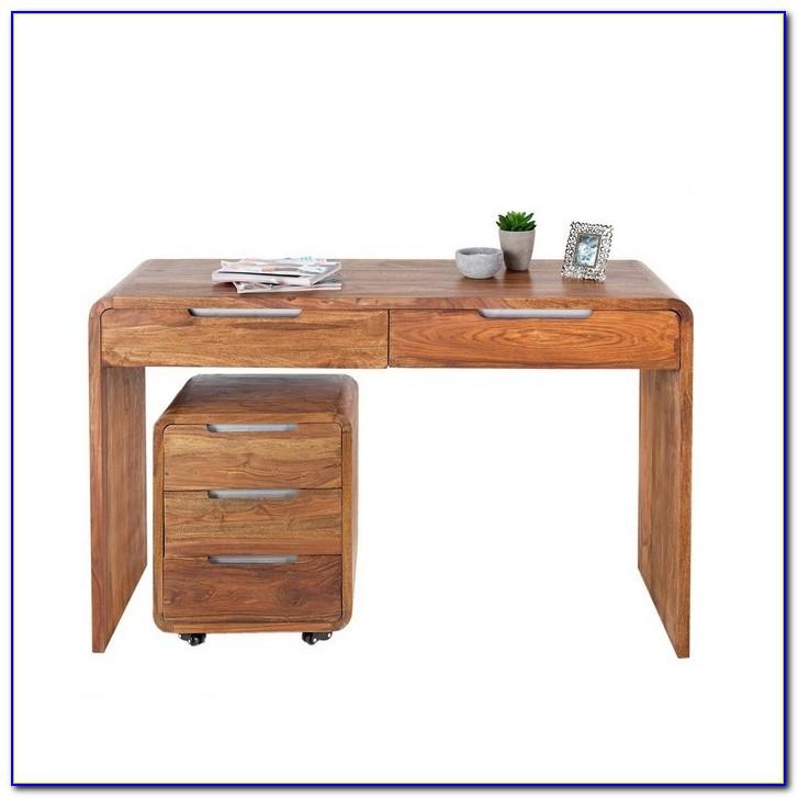 Schreibtisch Sheesham Altmetall