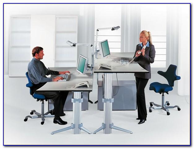 Schreibtisch Stehen Sitzen