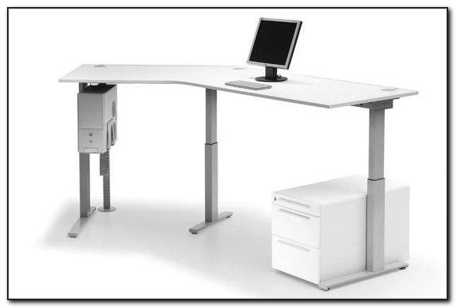 Schreibtisch Verstellbarer Platte