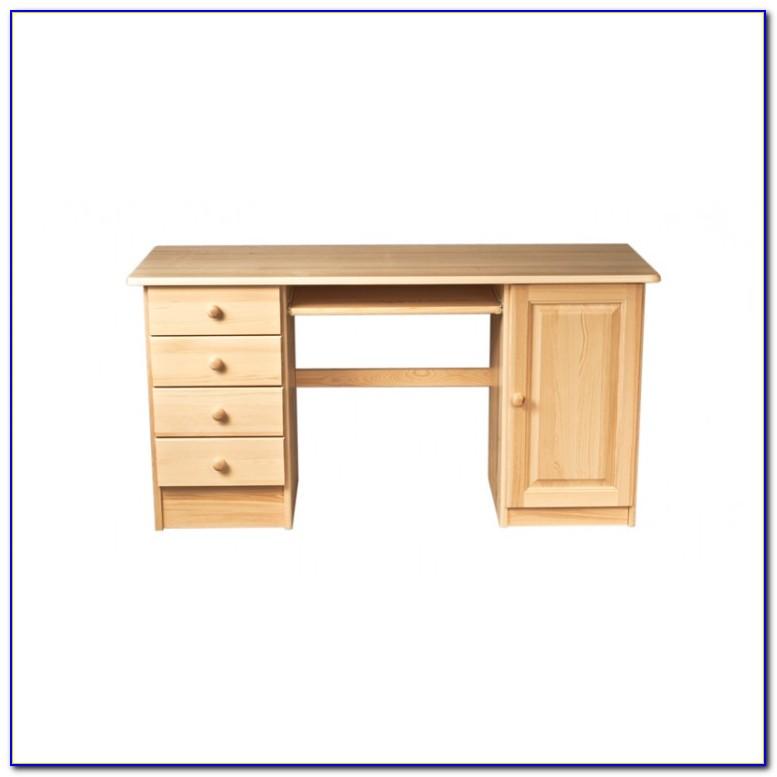 Schreibtisch Vollholz Weiß