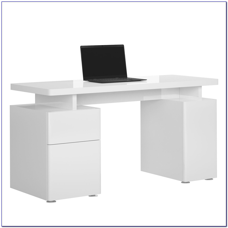 Schreibtisch Weiß Hochglanz 100 Cm