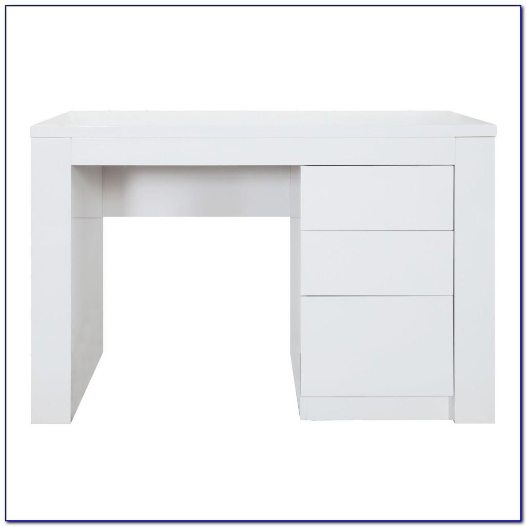 Schreibtisch Weiß Hochglanz Poco