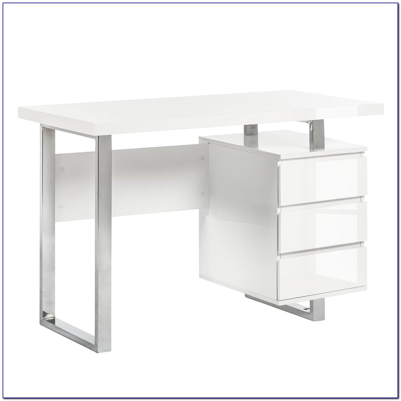 Schreibtisch Weiß Hochglanz Roller
