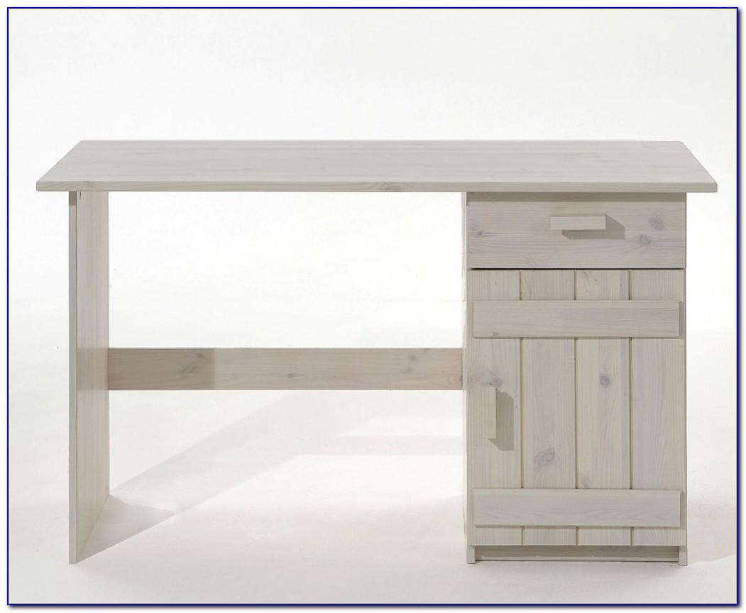 Schreibtisch Weiß Holz Skandinavisch