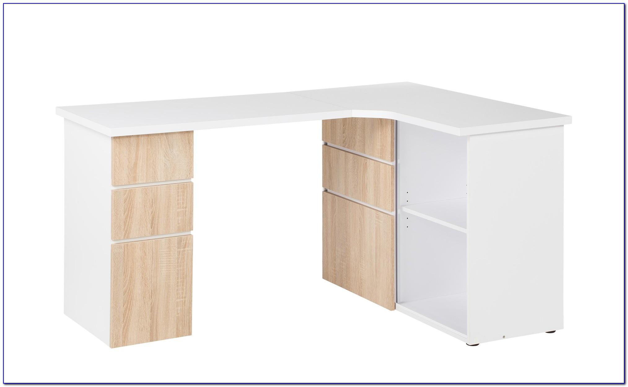 Schreibtisch Weiß Lackiert