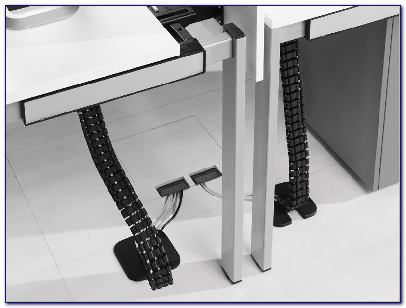 Schreibtisch Weiß Mit Kabelkanal
