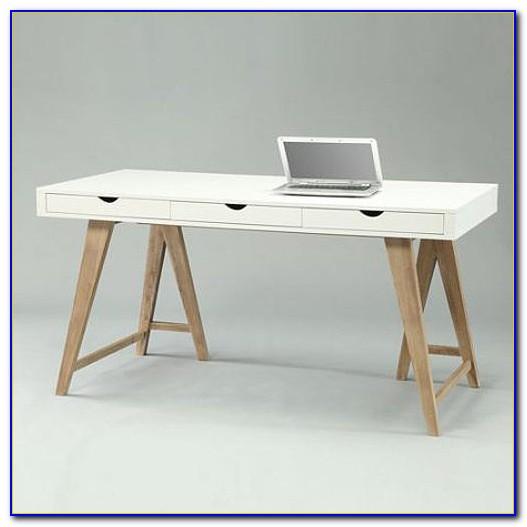 Schreibtisch Weiß Schubladen