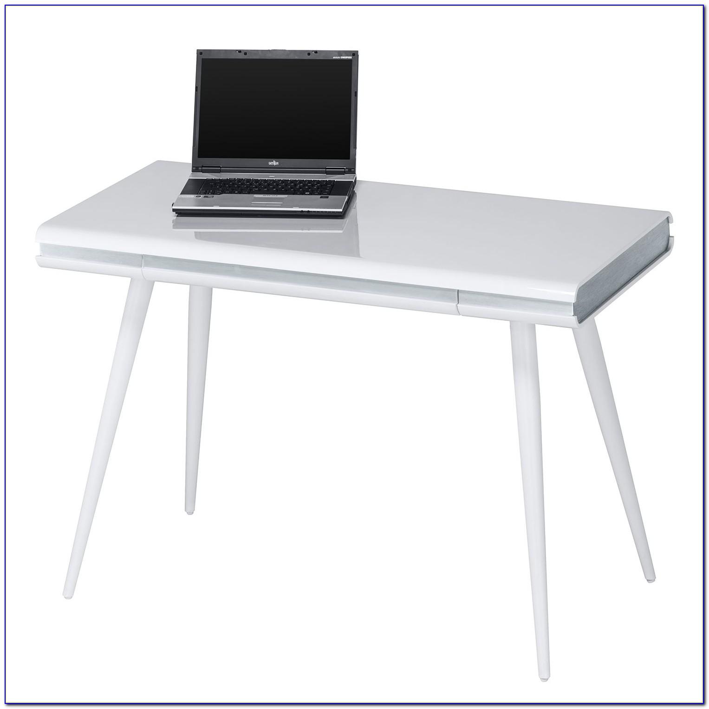 Schreibtisch Weiß Schwarz Hochglanz