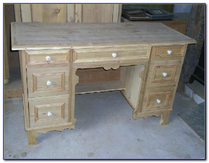 Schreibtisch Weichholz Antik