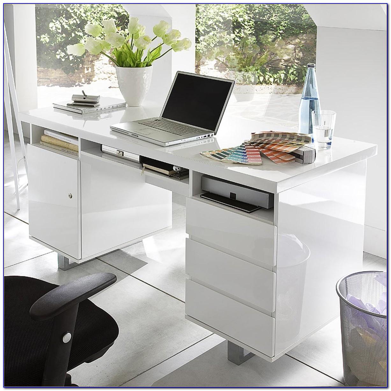 Schreibtisch Weiss Hochglanz Kare