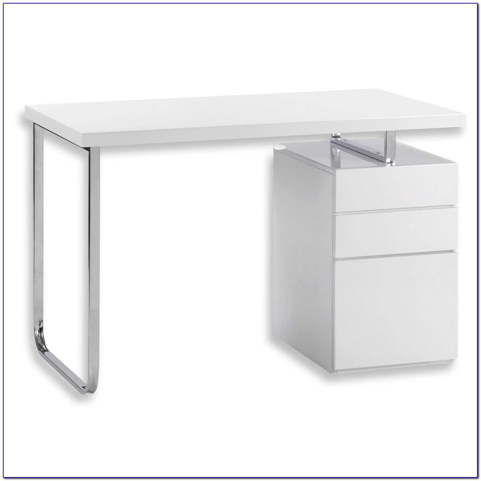 Schreibtisch Weiss Hochglanz Lack
