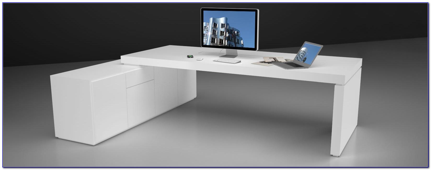 Schreibtisch Weiss Hochglanz