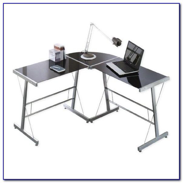 Schreibtisch Winkelkombination Glas