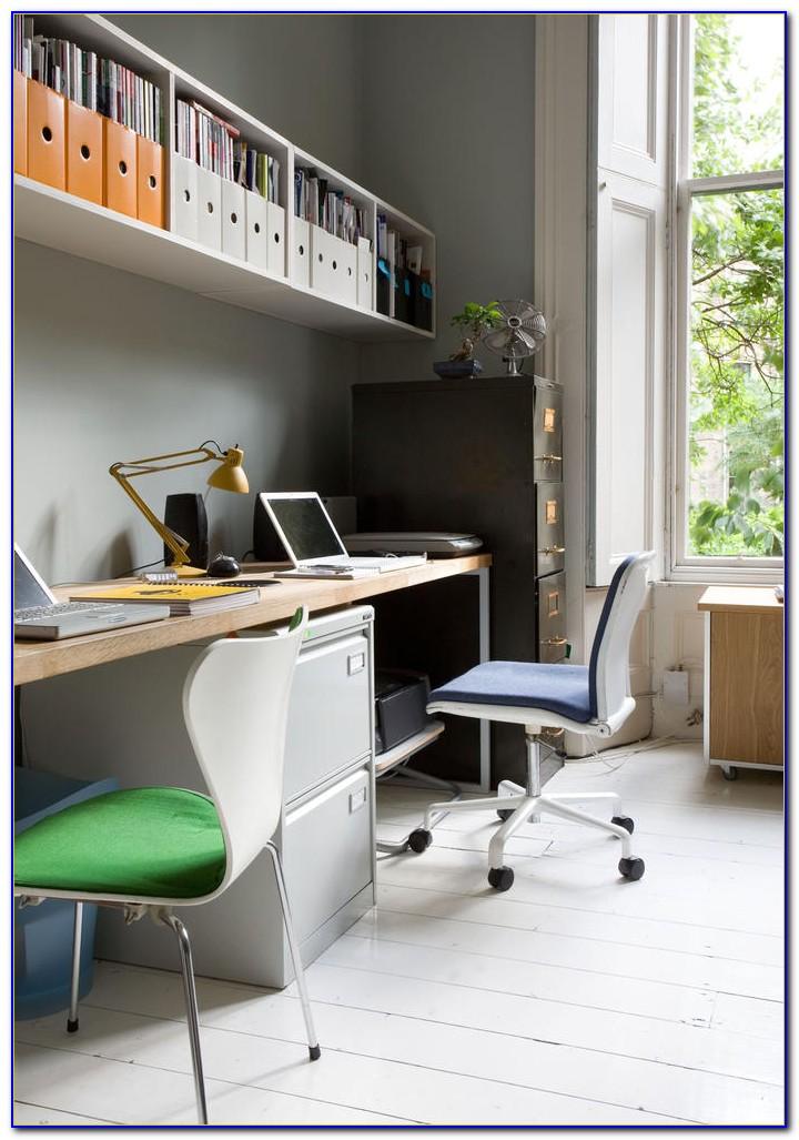Schreibtisch Zwei Monitore