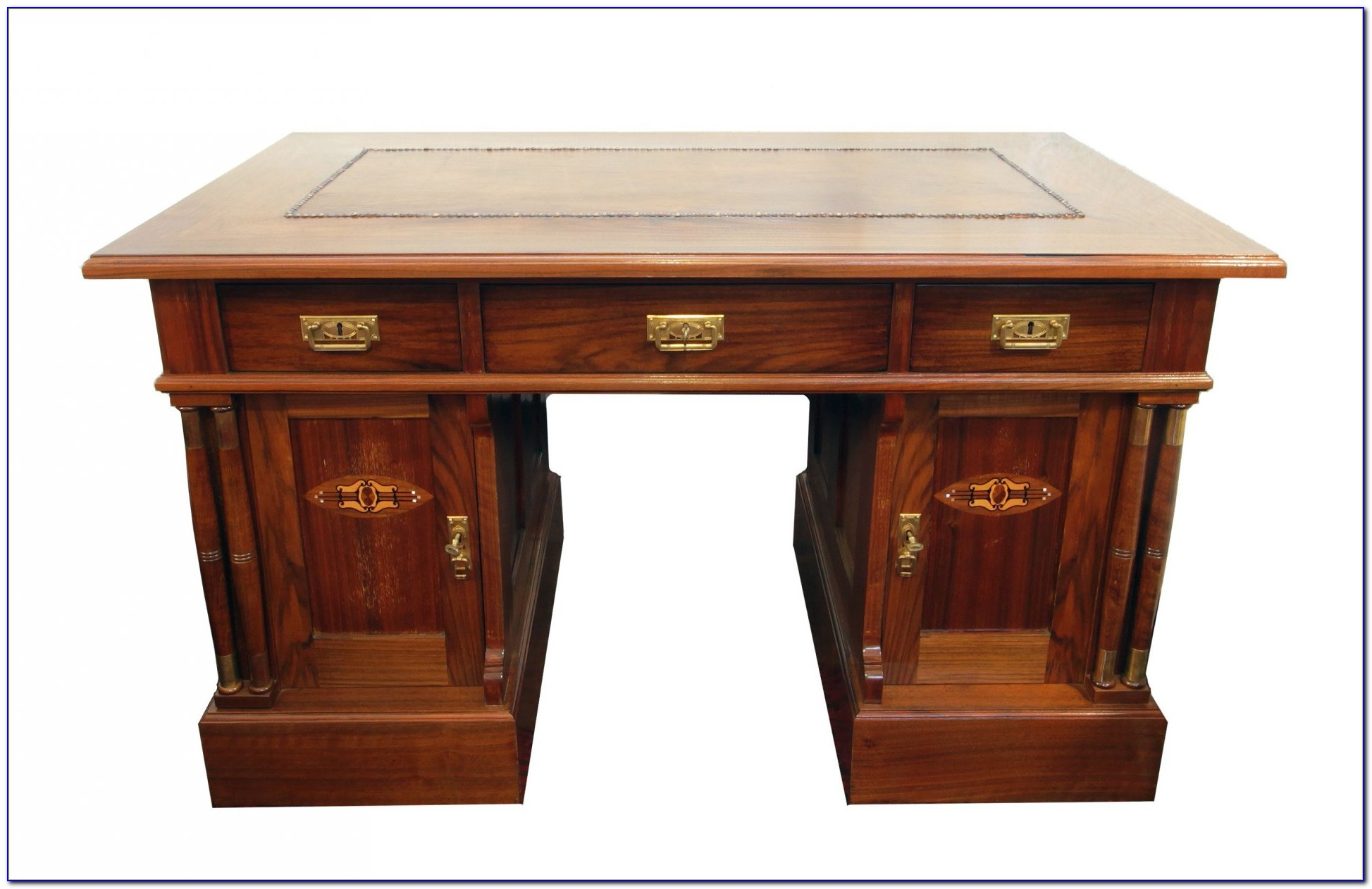 Schreibtischplatte Nussbaum