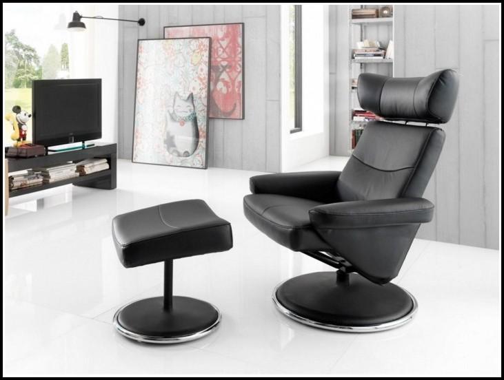 Schwarz Leder Sessel Design