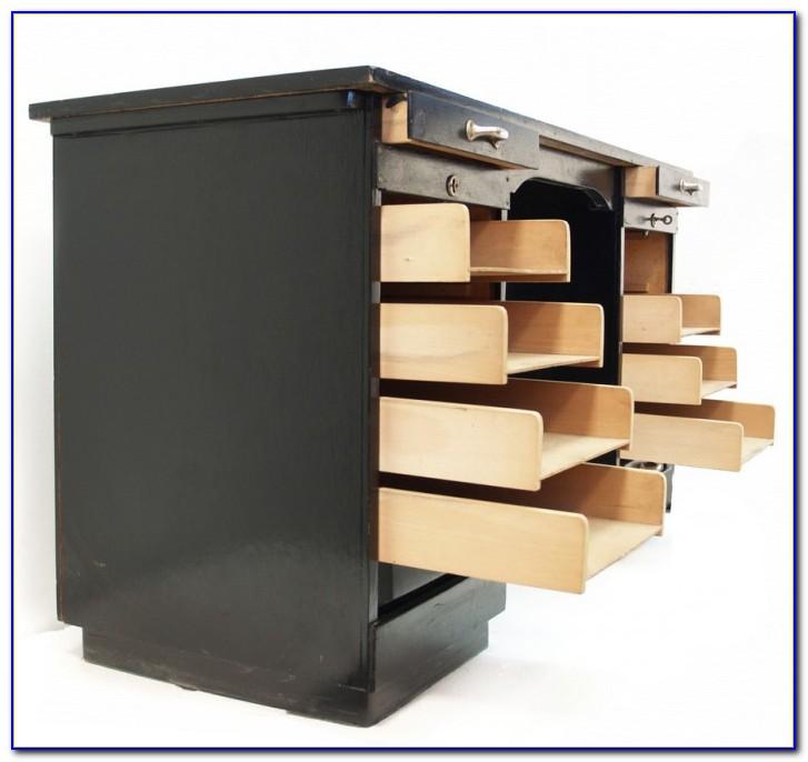 Schwarzer Schreibtisch Container