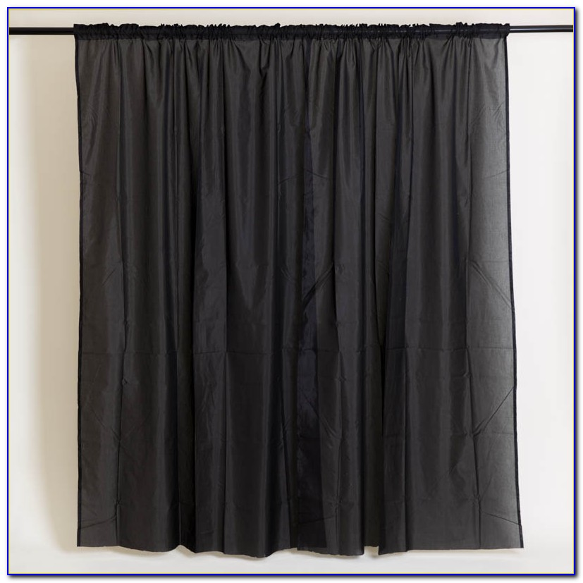 Schwarzer Vorhang Fotografie