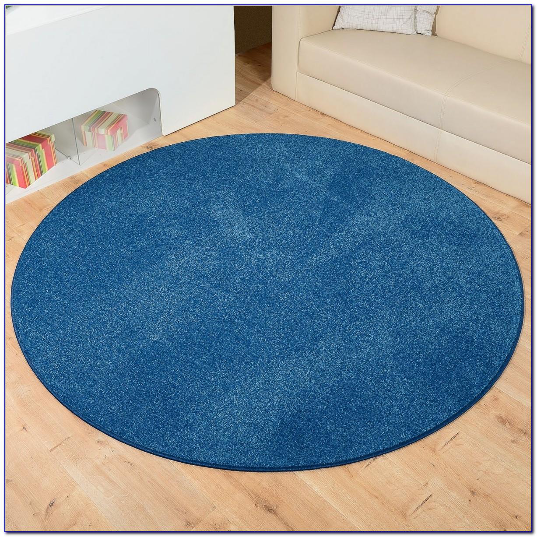 Sebra Teppich Rund Blau