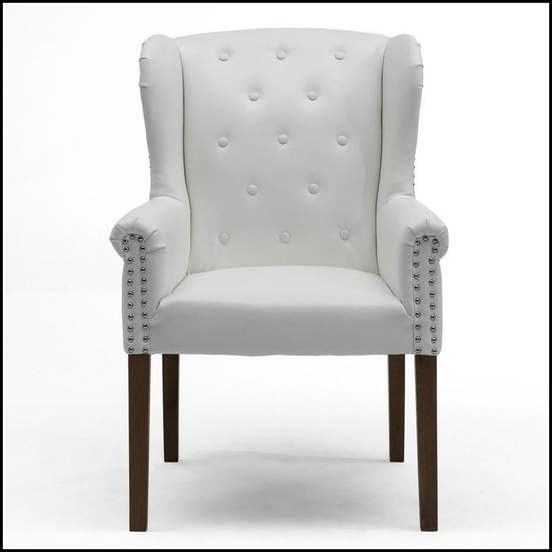 Sessel Weiß Leder
