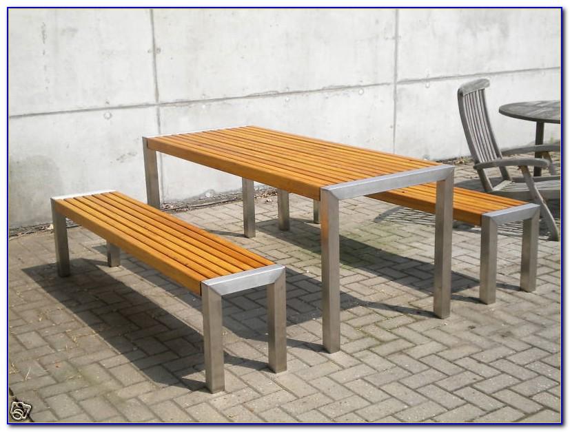 Sgartenmöbel Edelstahl Holz
