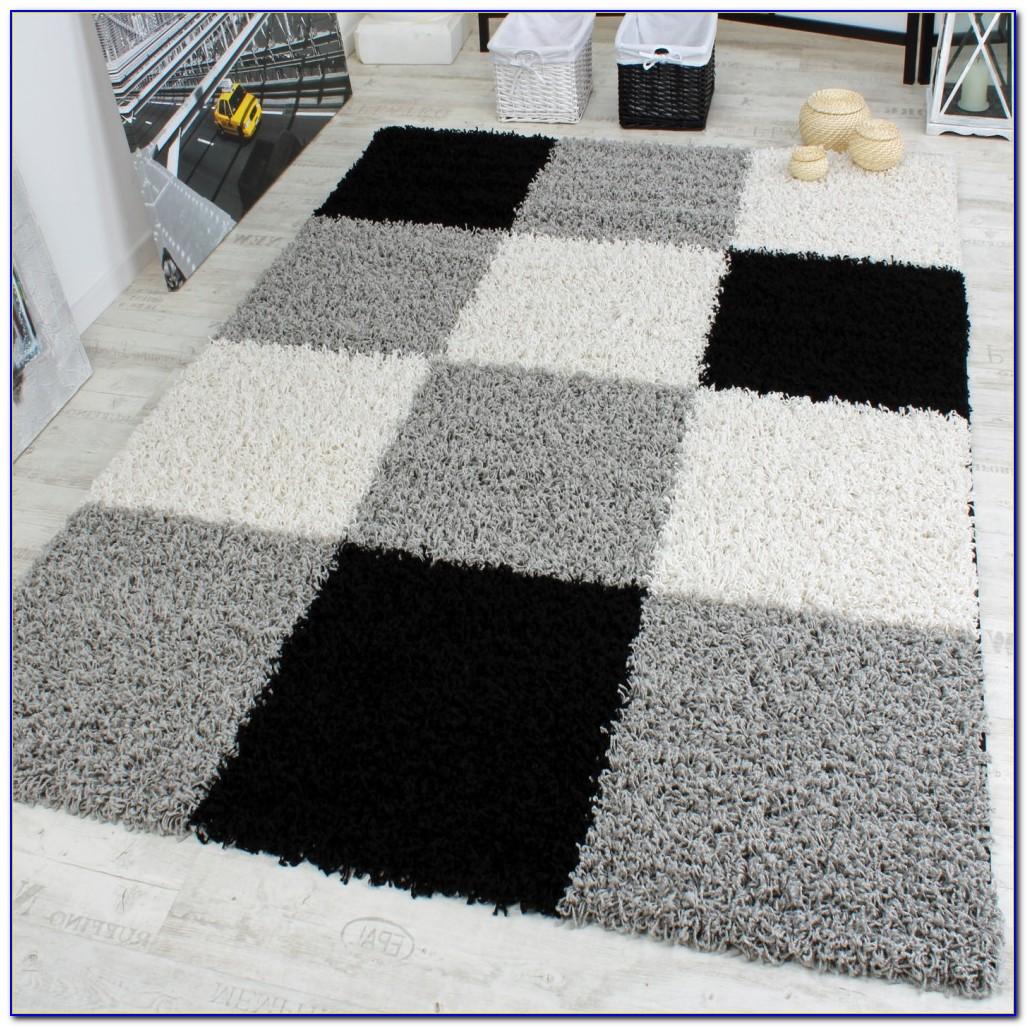 Shaggy Hochflor Teppich Grau