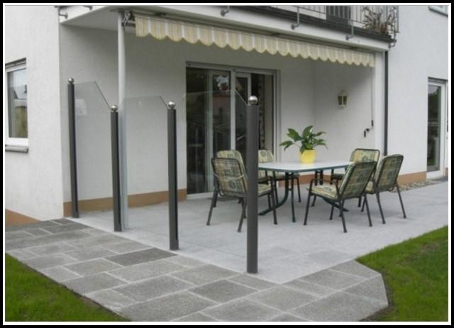 Sicht Und Windschutz Terrasse Aus Glas