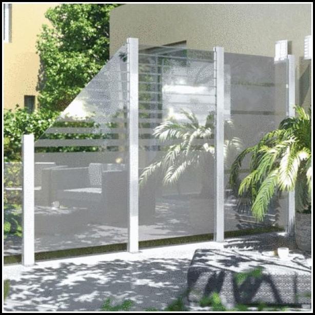 Sichtschutz Aus Glas Für Terrasse