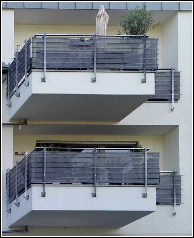 Sichtschutz Balkon Grau Meterware