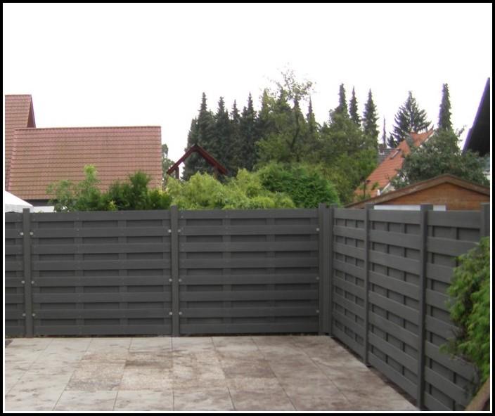 Sichtschutz Balkon Grau Weiß